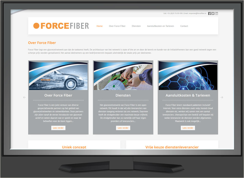 strakplan webdesign force-fiber